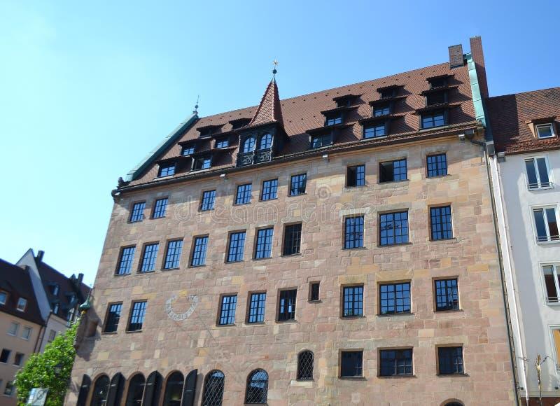 Dom w centrum Nuremberg zdjęcia stock