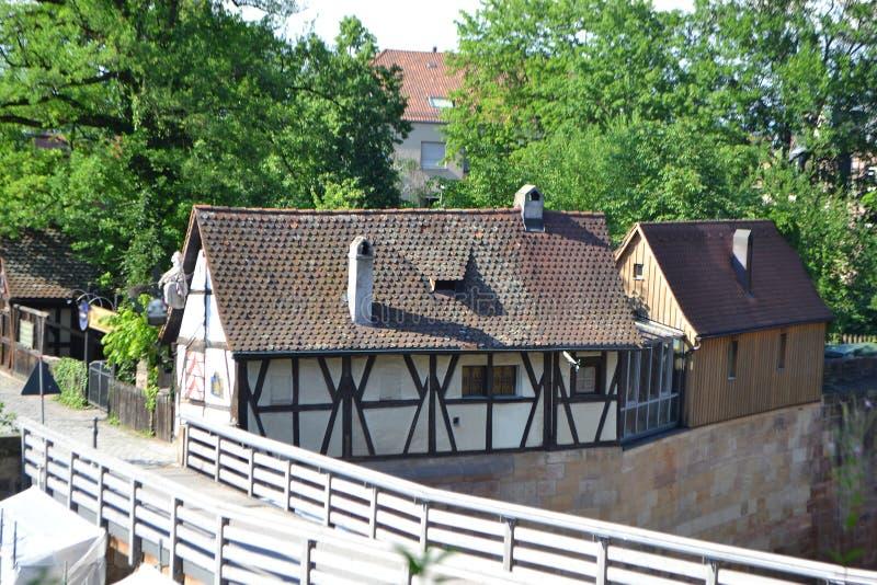 Dom w centrum Nuremberg zdjęcia royalty free