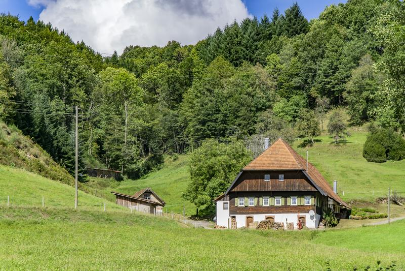 Dom w Czarnym lesie zdjęcia royalty free