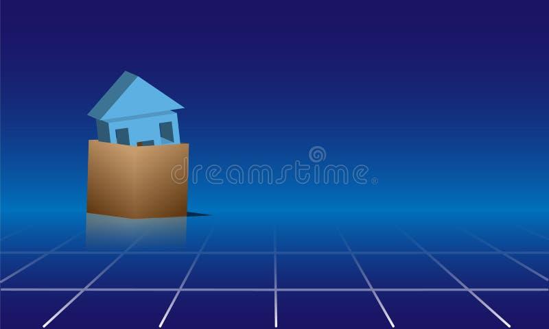 Download Dom w pudełku obraz stock. Obraz złożonej z finanse, mieszkaniowy - 32256989