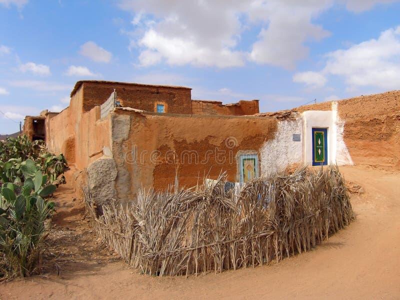 Dom w wiosce Berbers, południowy Maroko fotografia stock