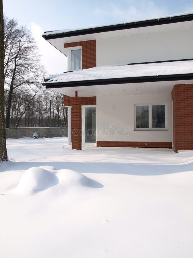 Dom w zimie fotografia royalty free