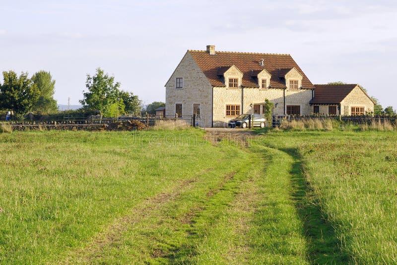dom wiejski angielskie ziemie obraz royalty free