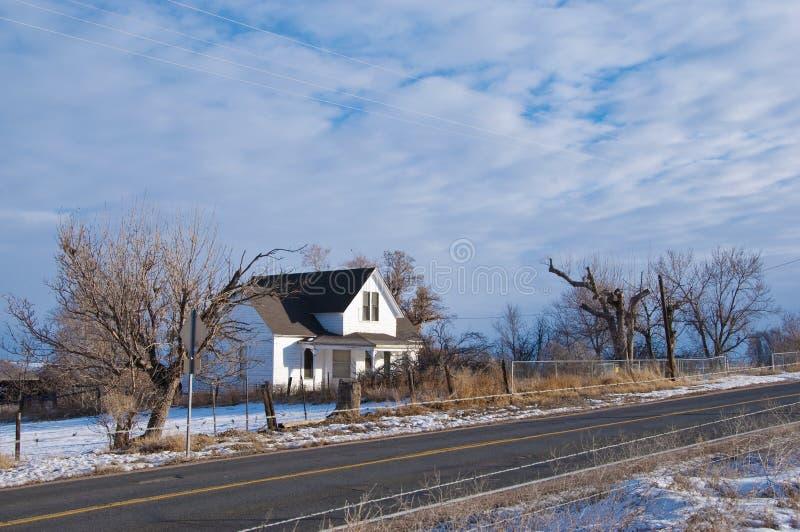 dom wiejski wiejski stary fotografia stock