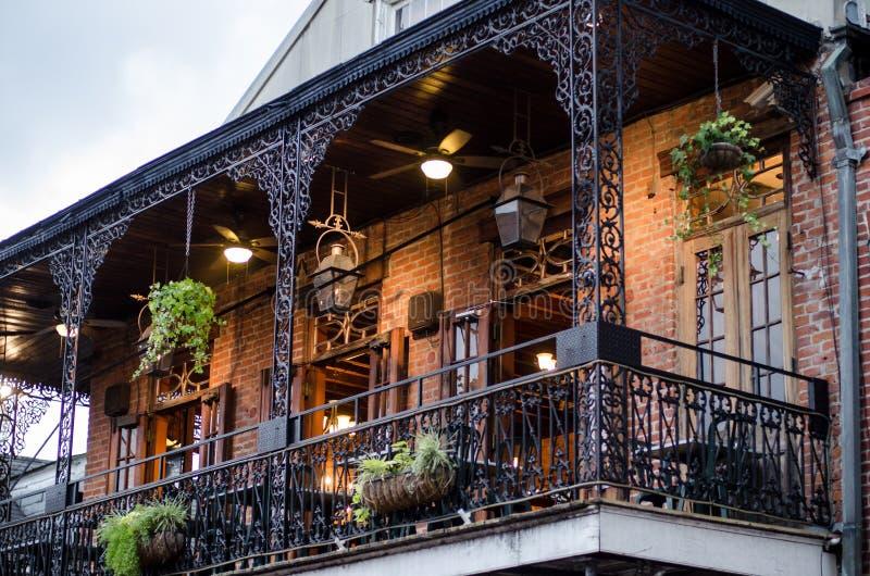 Dom z balkonem, Nowy Orlean obrazy royalty free