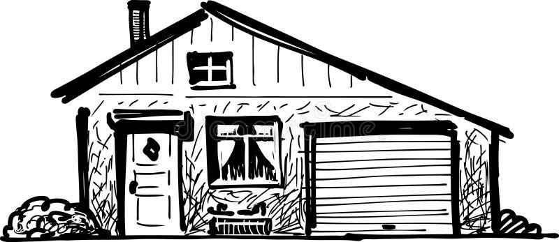Dom z garażem ilustracja wektor