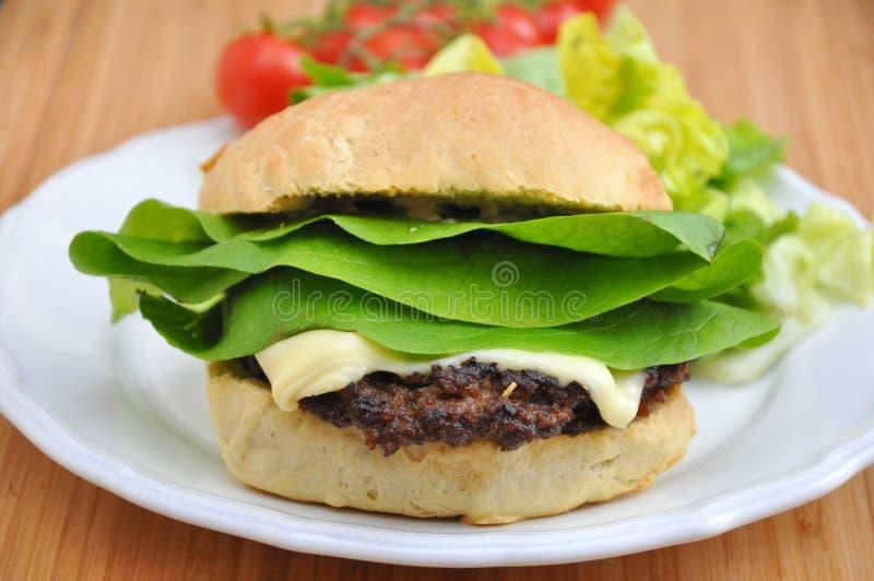 Dom zrobił hamburgerowi zdjęcia stock
