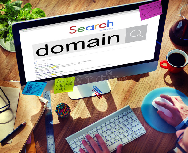 Domain Address Homepage Name Website Internet Concept.  stock photo