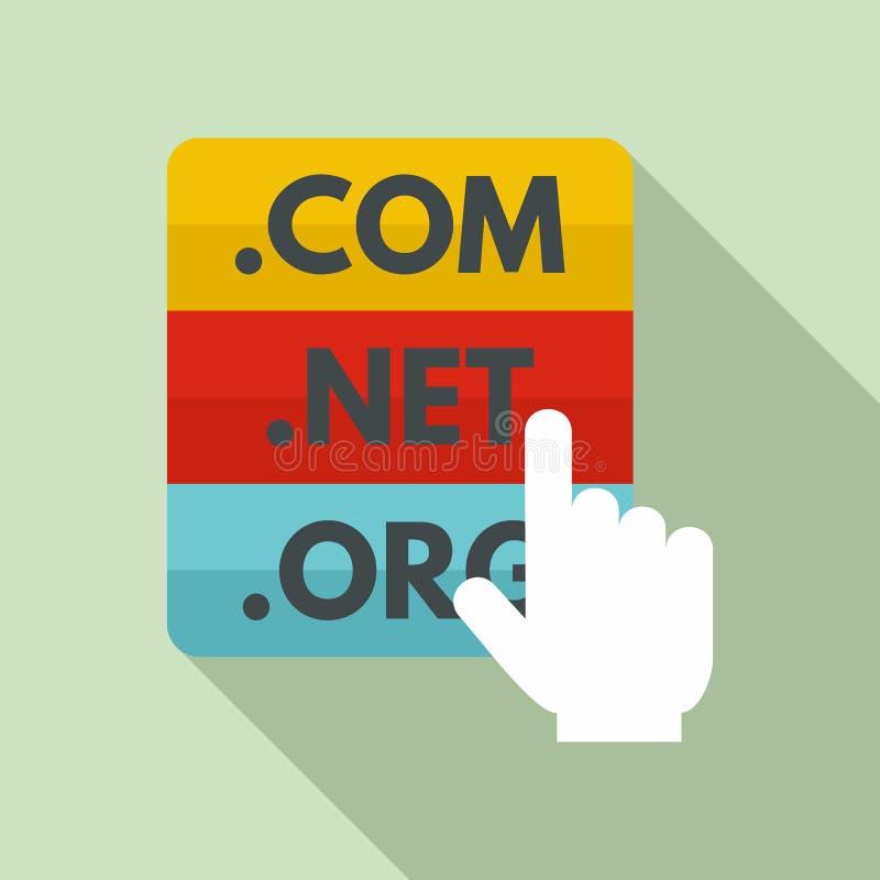 Domain icon, flat style stock illustration
