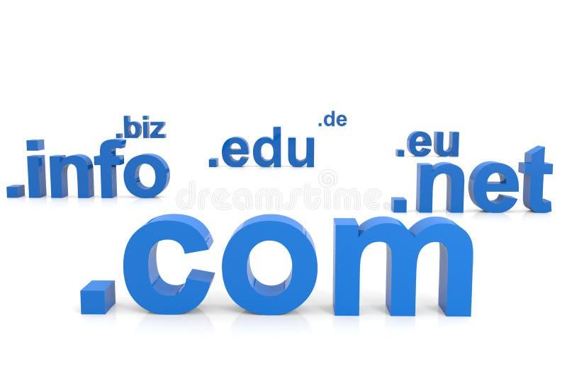 Domain Name 3D. Concetto del Internet. royalty illustrazione gratis
