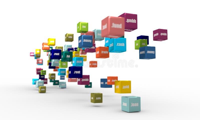Domain Name del deporte stock de ilustración