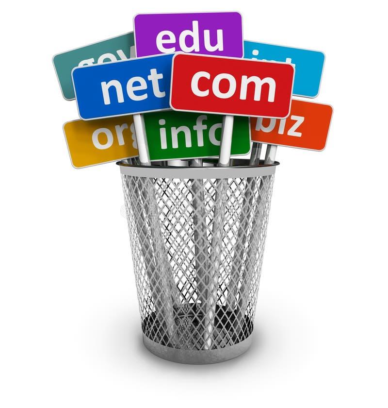 Domain Name e concetto del Internet royalty illustrazione gratis