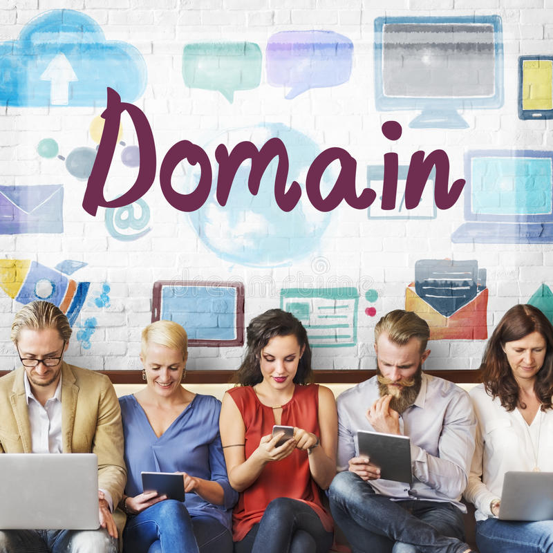 Domain Name Internet Online Network Connection Concept stock image