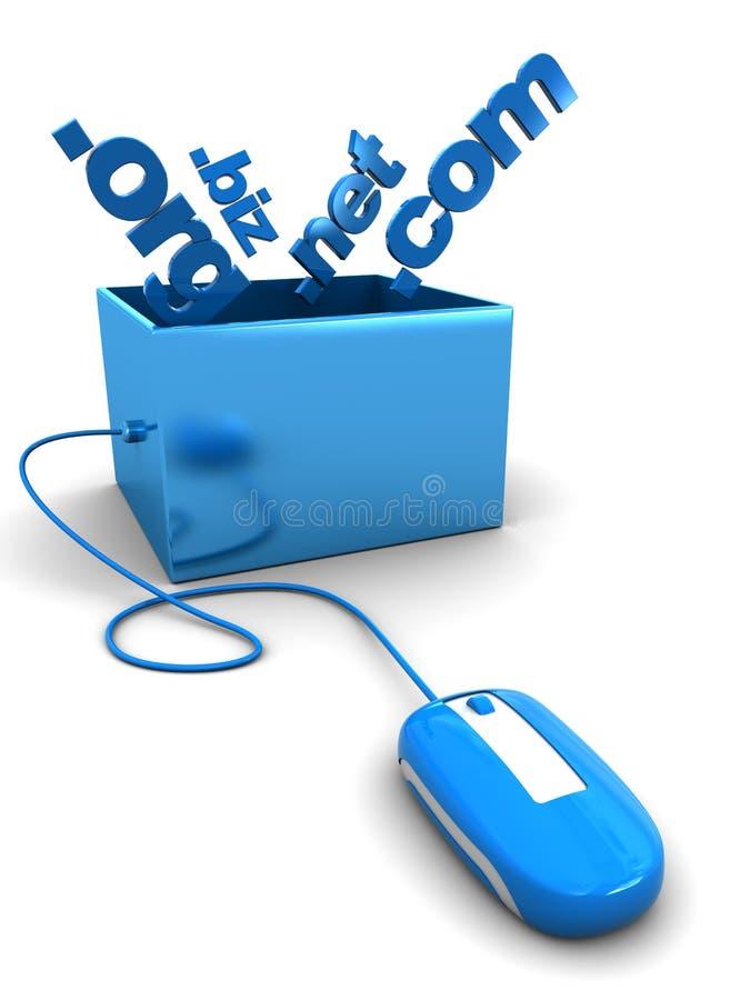 Download Domain names in box stock illustration. Illustration of modern - 14048766