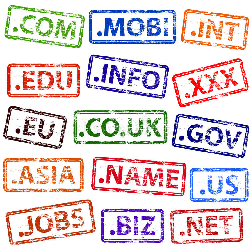 Domain- NameStempel lizenzfreie abbildung