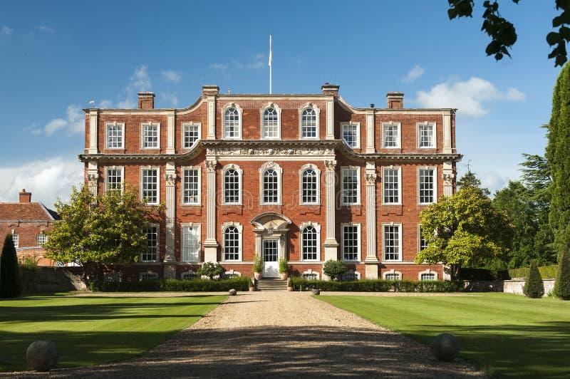 Domaine anglais Chicheley Hall images libres de droits