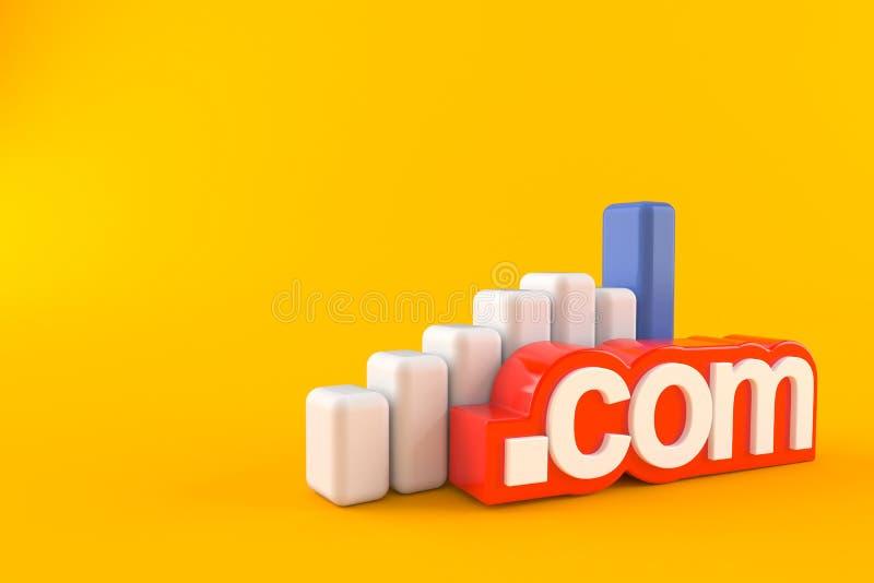 Domaine avec le diagramme illustration stock