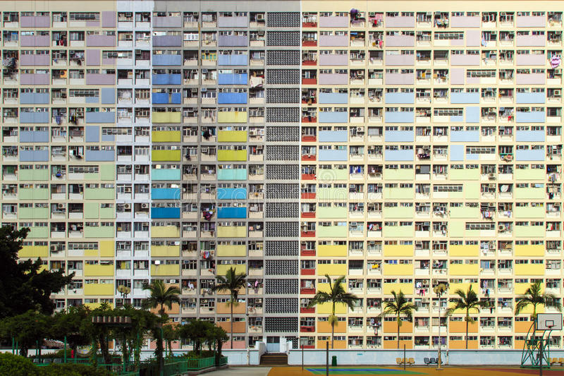 Domaine d'arc-en-ciel en Choi Hung, Hong Kong photo stock