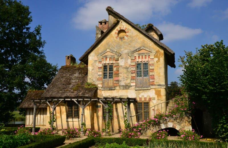 Domaine de Marie Antoinette dans le parc du palais de Versailles image stock