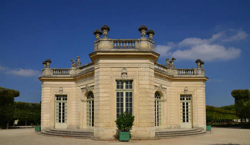 Domaine de Marie Antoinette dans le parc du palais de Versailles photo stock
