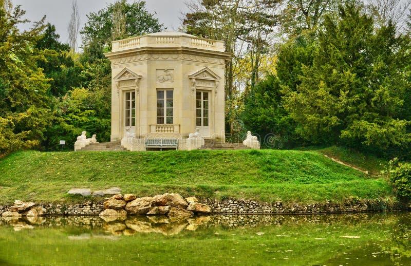 Domaine de Marie Antoinette dans le parc du palais de Versailles image libre de droits