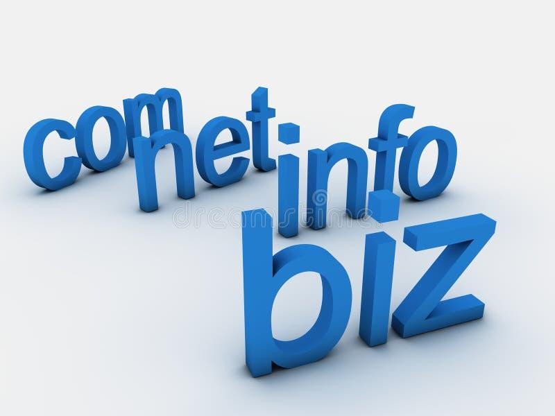 Domaines illustration stock