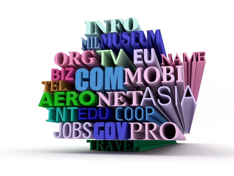 Domaines illustration de vecteur