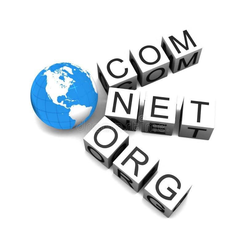 Domaines de Web illustration de vecteur
