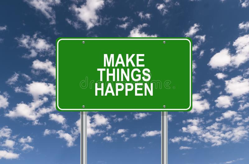 Make things happen illustration royalty free stock images