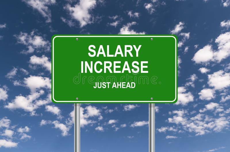Salary increase just ahead stock image