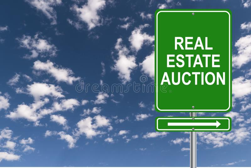 Real Estate Auction vector illustration