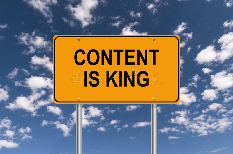 Content is king vector illustration