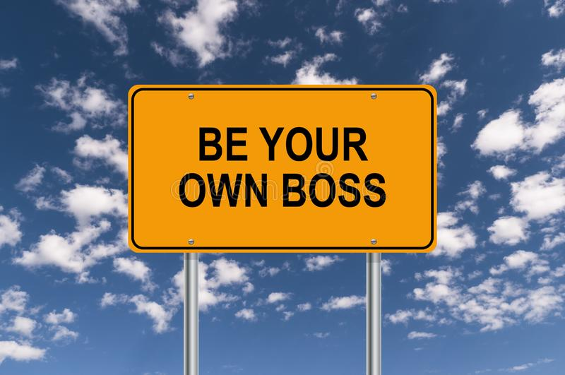 Be your own boss stock illustration