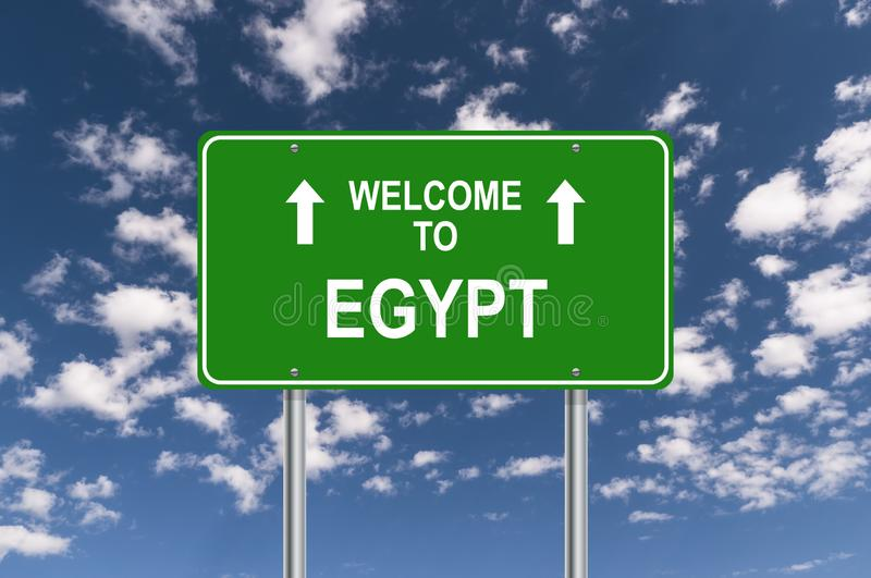 Welcome to egypt royalty free stock image