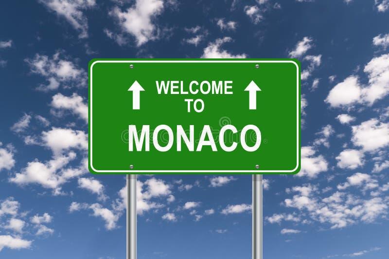 Welcome to monaco stock image