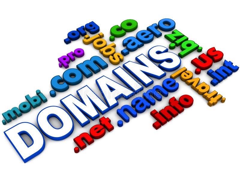 Domains vector illustration