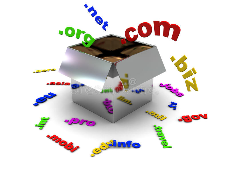 Download Domains in the box stock illustration. Illustration of communication - 10184168