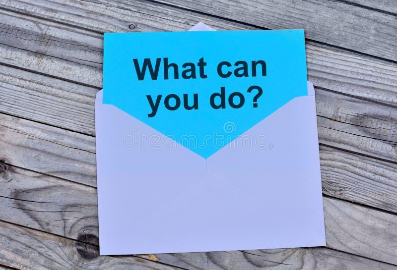 Domanda che cosa può voi fare su carta immagini stock libere da diritti