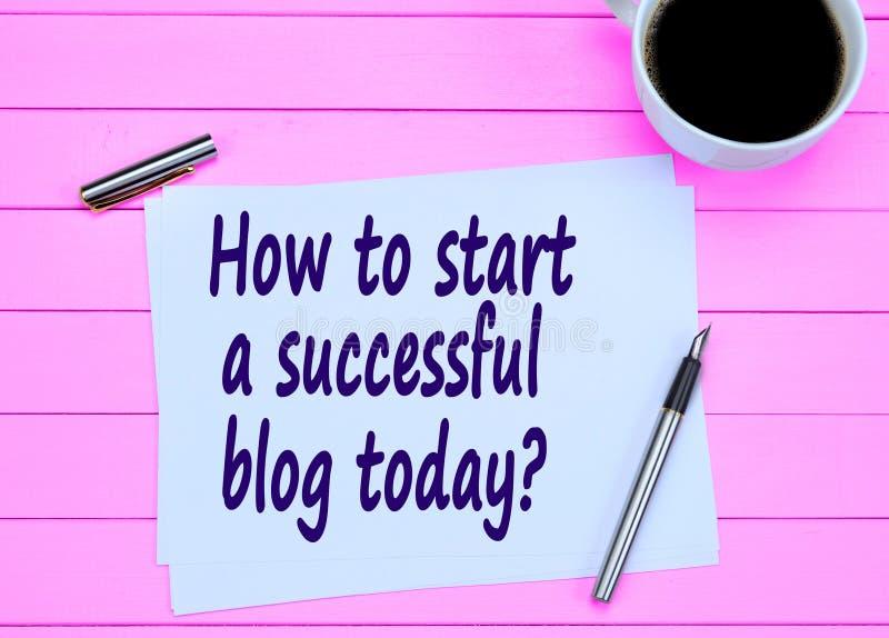 Domanda come iniziare oggi un riuscito blog immagini stock libere da diritti
