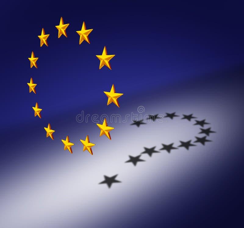 Domanda di Europa illustrazione vettoriale