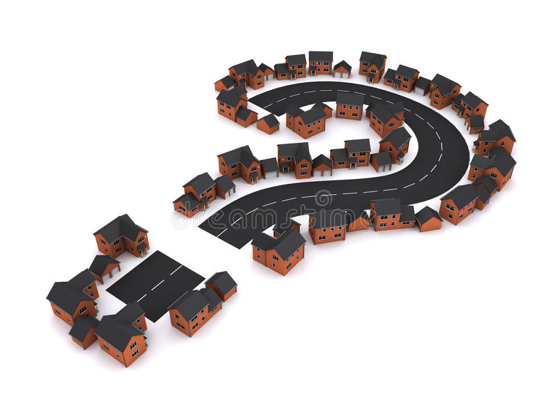 domanda sulle abitazioni 3d illustrazione vettoriale