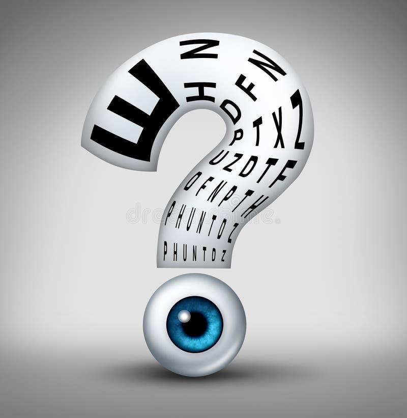 Domande di optometria illustrazione di stock