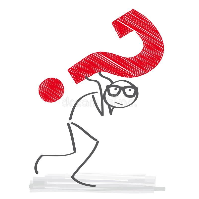 Domande e problemi illustrazione vettoriale