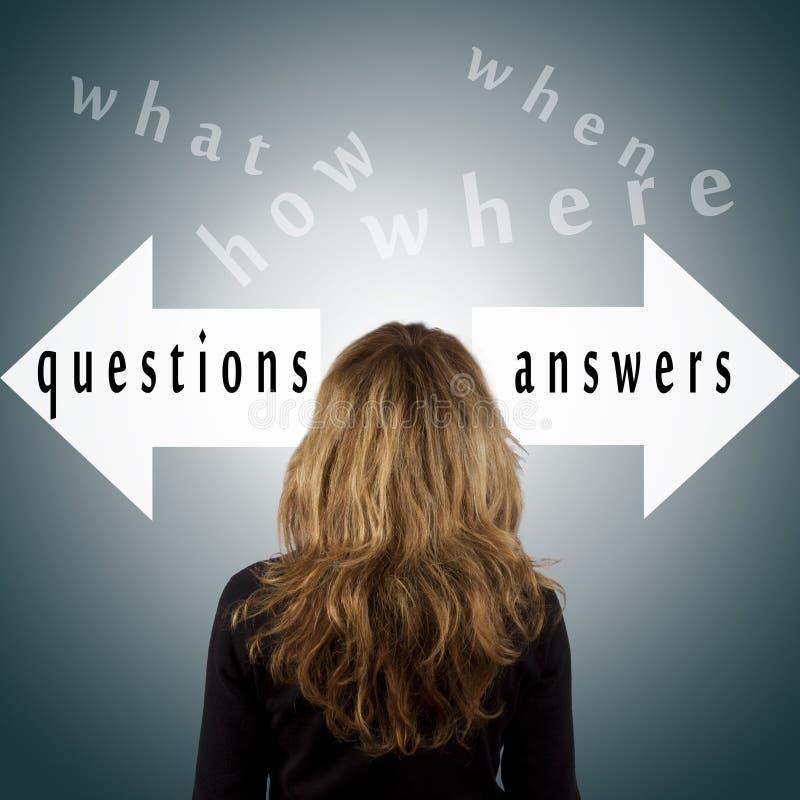 Domande e risposte immagini stock