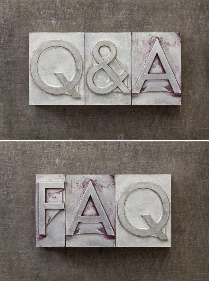 Domande e risposte - Q&A immagini stock libere da diritti