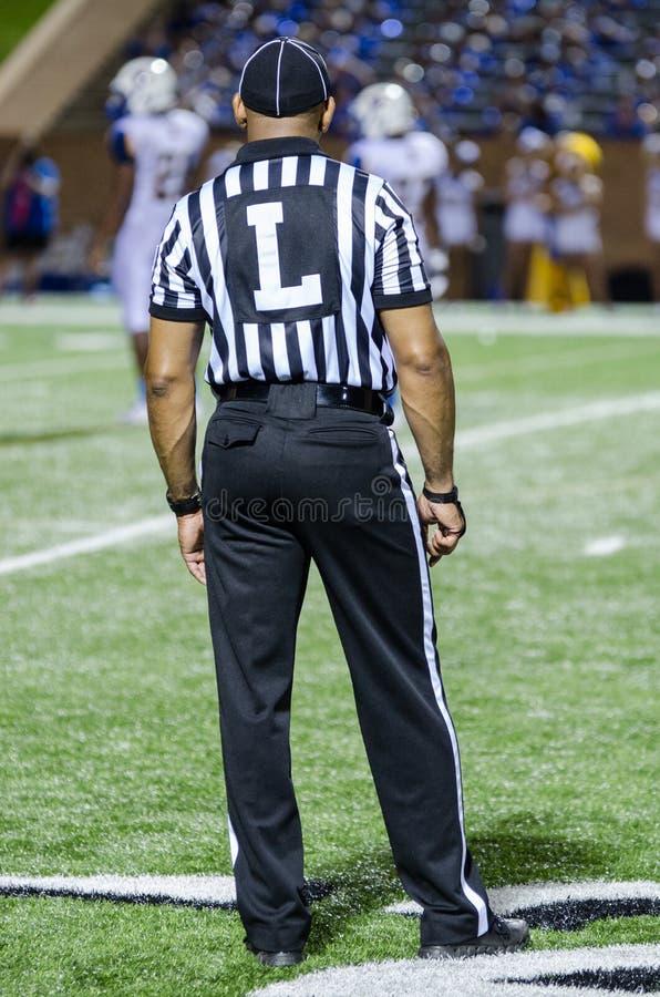 Domare för amerikansk fotboll royaltyfri bild