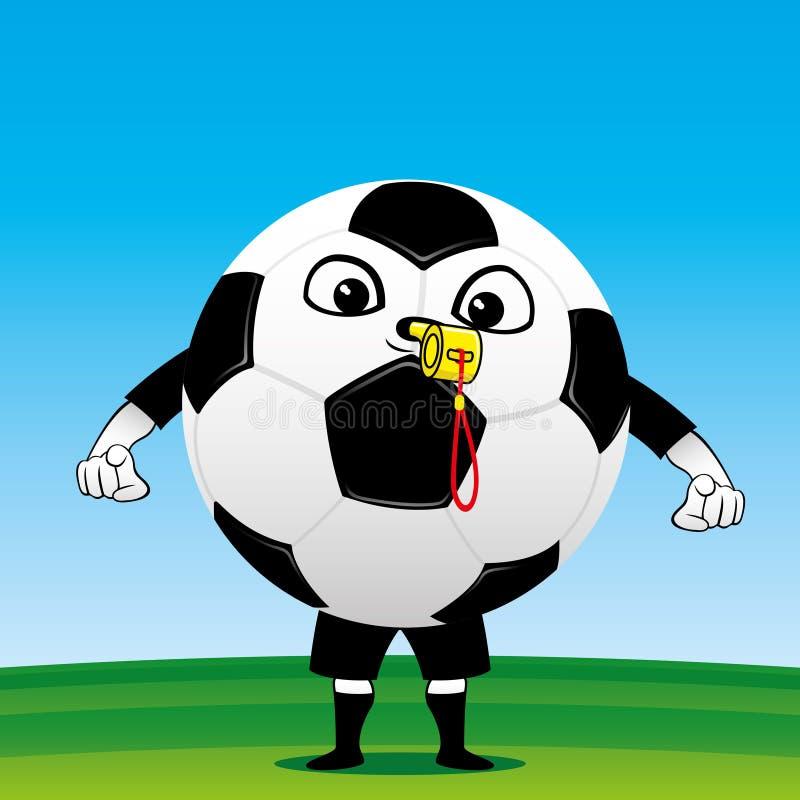 Domare för fotbollboll royaltyfri illustrationer
