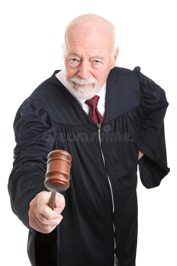 Domare i Wig - full huvuddel royaltyfria foton