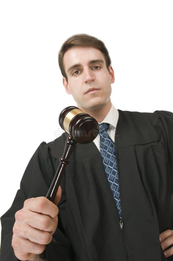 Domare med allvarligt grus arkivfoto