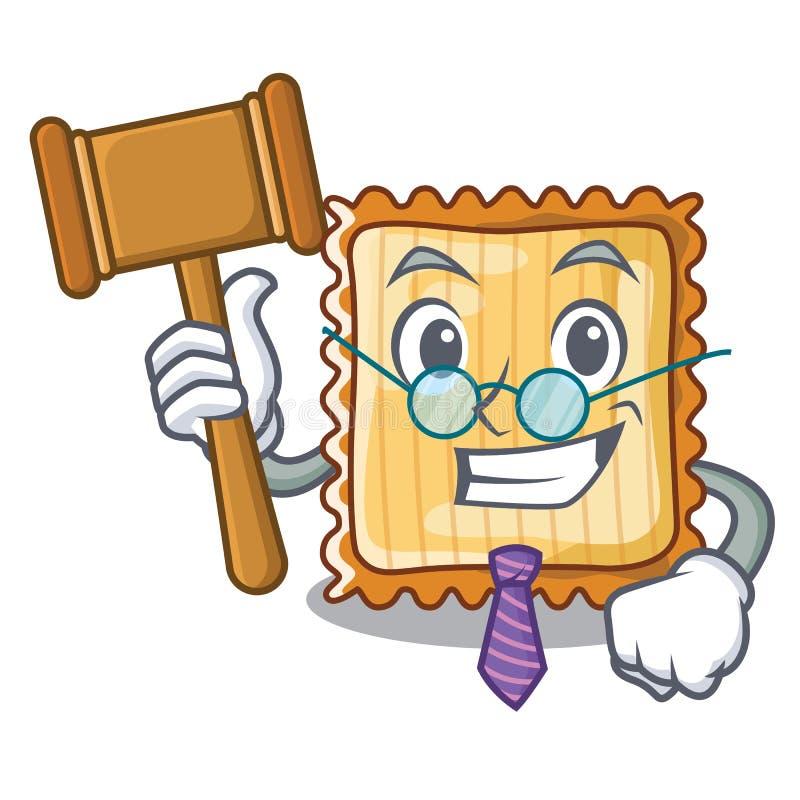 Domarelasagne tjänas som i tecknad filmplattor vektor illustrationer